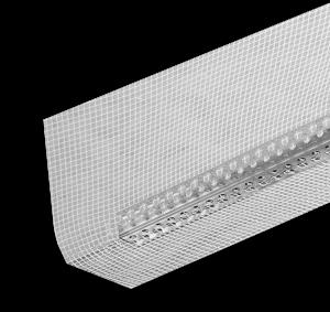 Strikotherm Hoekprofiel RVS met glasvezelweefsel